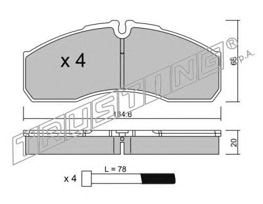 5945 К-т торм. колодок Fr MB Sprinter 5-t 01-