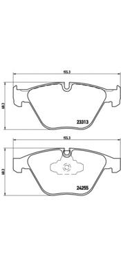 P06055 Колодки тормозные BMW 3 E90/E91/X1 E84 передние