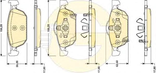 6134762 Колодки тормозные HONDA ACCORD 2.0-2.4 08- передние
