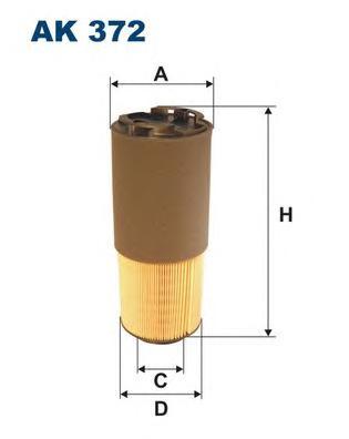 AK372 Фильтр воздушный VO S60 II -10, V70 II 2.5T AWD
