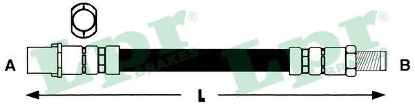 6T46900 Шланг торм M10x1x485mm пер W202 (F01497)