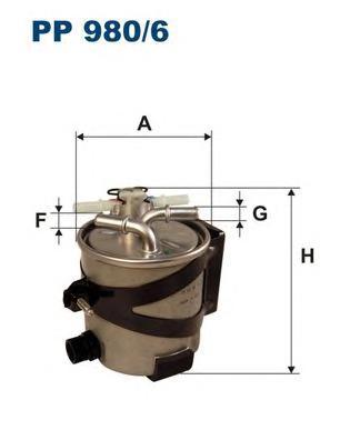 PP9806 Фильтр топливный RENAULT MEGANE/SCENIC 1.5D/2.0D 05- (с датчиком)
