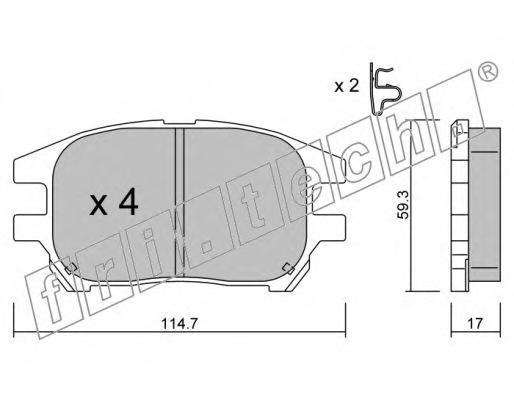6330 Комплект тормозных колодок, дисковый тормоз