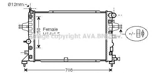 OLA2625 Радиатор OPEL ZAFIRA B 2.2 05-