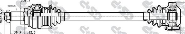 205039 Привод в сборе BMW 1 E81/3 E90 2.0-3.0 05- зад.лев.