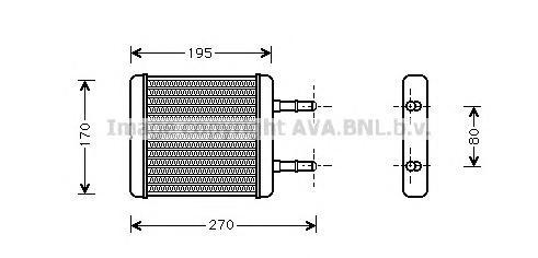 HY6061 Радиатор отопителя HYUNDAI: LANTRA I (J-1) 1.5 i.e./1.6 i.e. 16V/1.8 i.e. 16V 90 - 95 , LANTRA II (J-2) 1.5 12V/1.6 16V/1