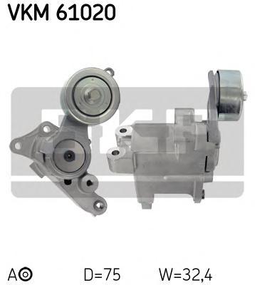 VKM61020 Ролик приводного ремня Toyota 2.5 D-4D 01