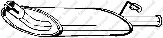 154797 Глушитель FORD FIESTA 1.1 89-90