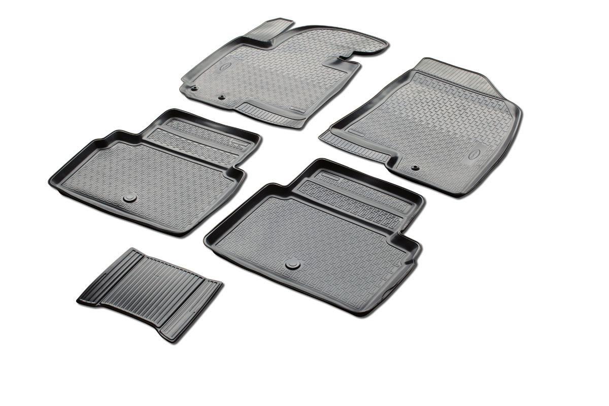 0012805001 Комплект автомобильных ковриков Kia Sportage III 2010- , полиуретан, низкий борт, 5 предметов, крепеж для передних ко