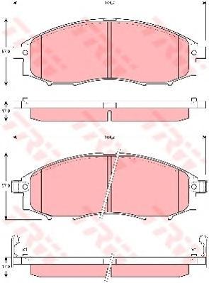 GDB3340 Колодки тормозные NISSAN PICK-UP 98- передние