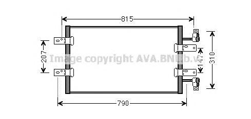 RTA5451 Конденсер RENAULT TRAFIC 2.5D 06-