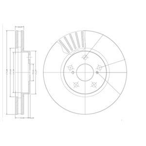 BG3189 Диск тормозной TOYOTA AVENSIS 1.6-2.0 97-03/CELICA 1.6-2.0 86-99 передний