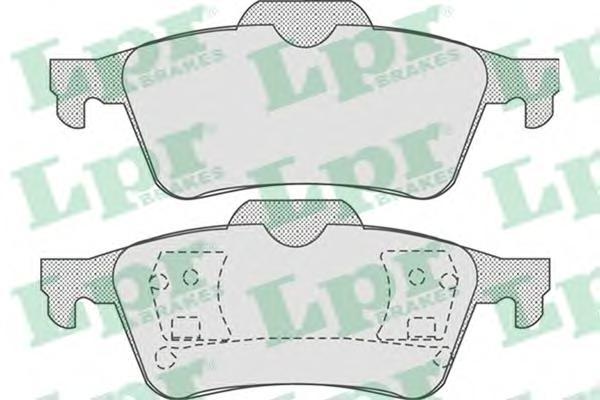 05P815 Колодки тормозные NISSAN PRIMERA (P12) 02-/RENAULT LAGUNA 01- задние