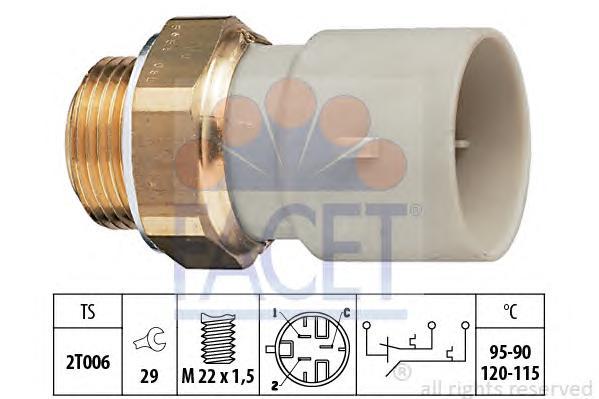 75655 Датчик включения вентилятора HOLDEN: ASTRA Наклонная задняя часть (TR) 2.0 CDX 95-98, ASTRA седан (TR) 2.0 CDX 95-98  OPEL