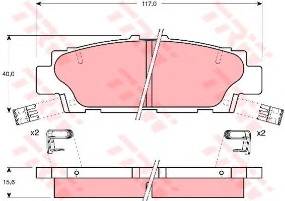 GDB1257 Колодки тормозные LEXUS LS 400 89-92 задние