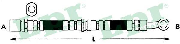 6T48079 Шланг тормозной SUBARU FORESTER 02- задний левый