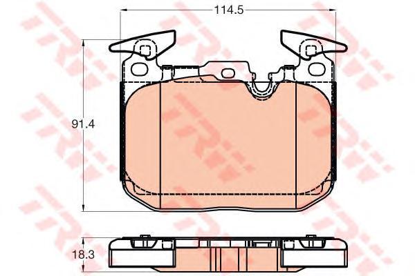 GDB2031 Колодки тормозные BMW F30/35/80/34/36/33/32/82/83 передние спорт.пакет