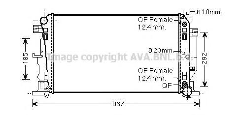 ms2445 Радиатор системы охлаждения MERCEDES-BENZ: SPRINTER 3,5 c бортовой платформой/ходовая часть (906) 309 CDI/311 CDI/313 CDI