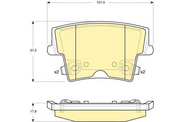 6141359 Колодки тормозные CHRYSLER 300C 04- задние