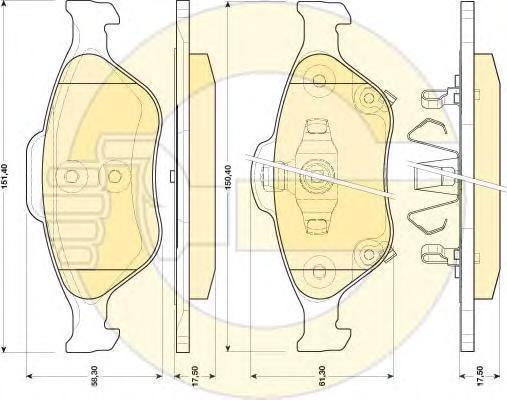 6134579 Колодки тормозные TOYOTA YARIS 1.0-1.4 06- передние