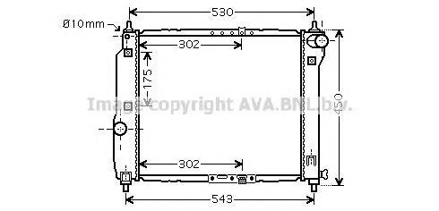 DWA2066 Радиатор CHEVROLET AVEO 1.2/1.4 M/T 05-