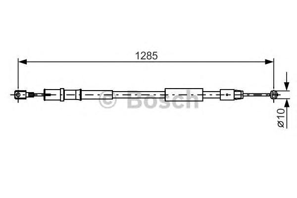 1987482026 Трос ручного тормоза MB W639 1285мм