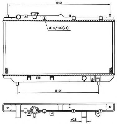 509511 Радиатор MA 323 94-96