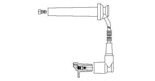 8A15E96 Провод в/в Ford Mondeo 2.5 V6 6цил. 00-07