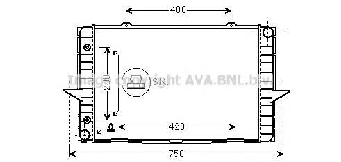 VO2064 Радиатор VOLVO 850 2.0-2.5/2.5TD 91-00
