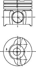 40293600 Поршень ДВС MINI: MINI One DTOYOTA: YARIS 1.4 D-4D, YARIS=73.02 1.5x1.5x3 std 99-05