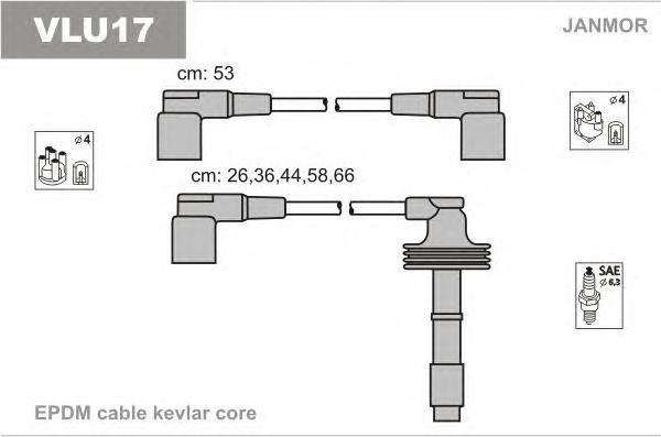 VLU17 Комплект проводов зажигания RENAULT: SAFRANE II 96-00, VOLVO: 850 91-97, 850 Wagon 92-97, 850 универсал 92-97, C70 I кабри