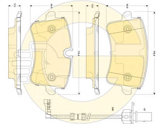 6118671 Колодки тормозные AUDI A8 3.0-4.2 quattro 09- задние