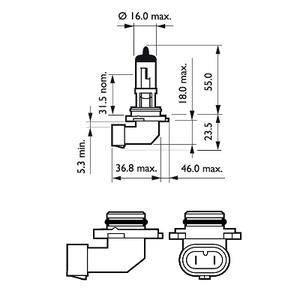 9145C1 Лампа H10 12V 45W PY20d
