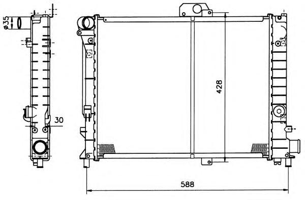 504140 Радиатор SAAB 9000 МКПП