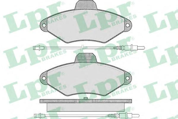 05P487 Колодки тормозные дисковые передн CITROEN: XANTIA 93-98