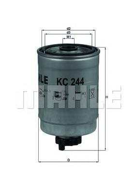 KC244 Фильтр топливный SAAB: 9-3 04-, 9-5 06-, CADILLAC BLS 06-