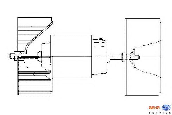 8EW009159171 Мотор отопителя MB W463