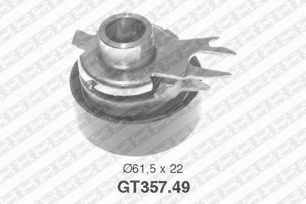 GT35749 pолик натяжной pемня ГPМ! VW Caddy 1.4