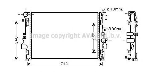 ms2356 Радиатор системы охлаждения MERCEDES-BENZ: VIANO (W639) 3.0 CDI/3.2/3.7/CDI 2.2/CDI 2.2 4-matic 03 - , VITO автобус (W639