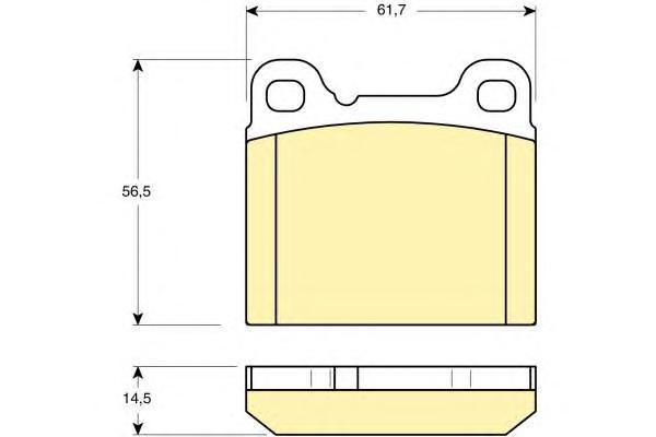 6111602 Колодки тормозные VOLVO 240/760/850/940/C70/S70/V70 задние