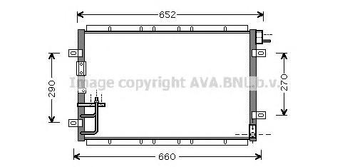 KA5030 Радиатор кондиционера KIA: SORENTO (JC) 2.4/2.5 CRDi/3.5 V6 02 -