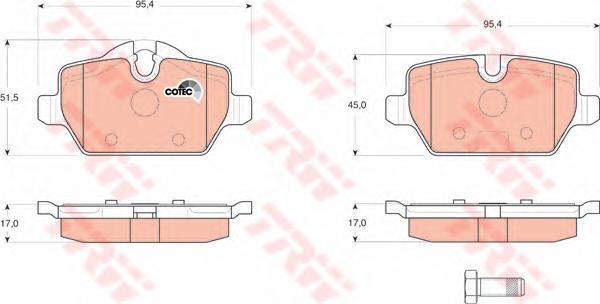 GDB1612 Колодки тормозные BMW E81/E87/E90 1.6-2.0 04- задние
