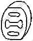255854 Подвеска глушителя VOLVO V70 2.0-2.5 97-00