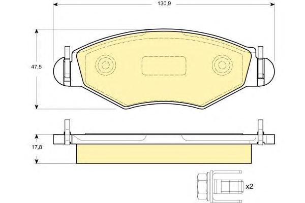 6115004 Колодки тормозные PEUGEOT 206/206SW 01(-ABS) передние