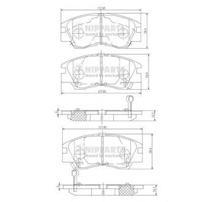 J3605027 Колодки тормозные MITSUBISHI L200/L300/PAJERO 83-96 передние