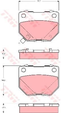 GDB3308 Колодки тормозные SUBARU IMPREZA 00- задние