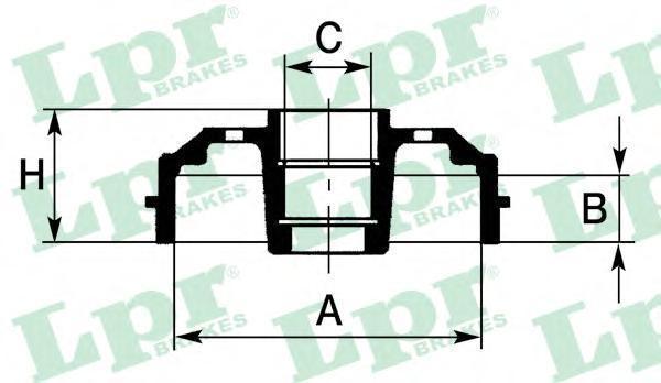 7D0637C Барабан тормозной CITROEN C2/C3/PEUGEOT 1007/206 с подшипиком