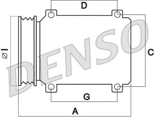 DCP50242 Компрессор кондиционера YARIS/COROLLA VERSO 1.3-1.5