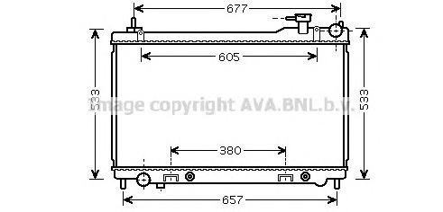 DN2304 Радиатор INFINITI FX35 A/T 03-
