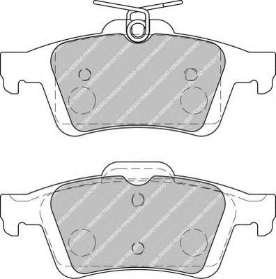 FDB1931 Колодки тормозные FORD FOCUS II/III/MAZDA 3/OPEL VECTRA C/VOLVO S40 задние